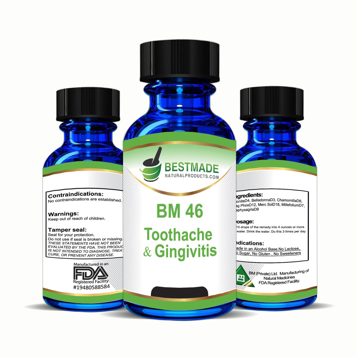 Toothache & Gingivitis Natural Remedy (BM46)