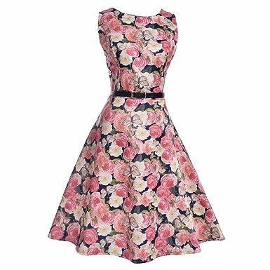 8f641c23c2 Hmeng Cute Flower Print Dress For Girls