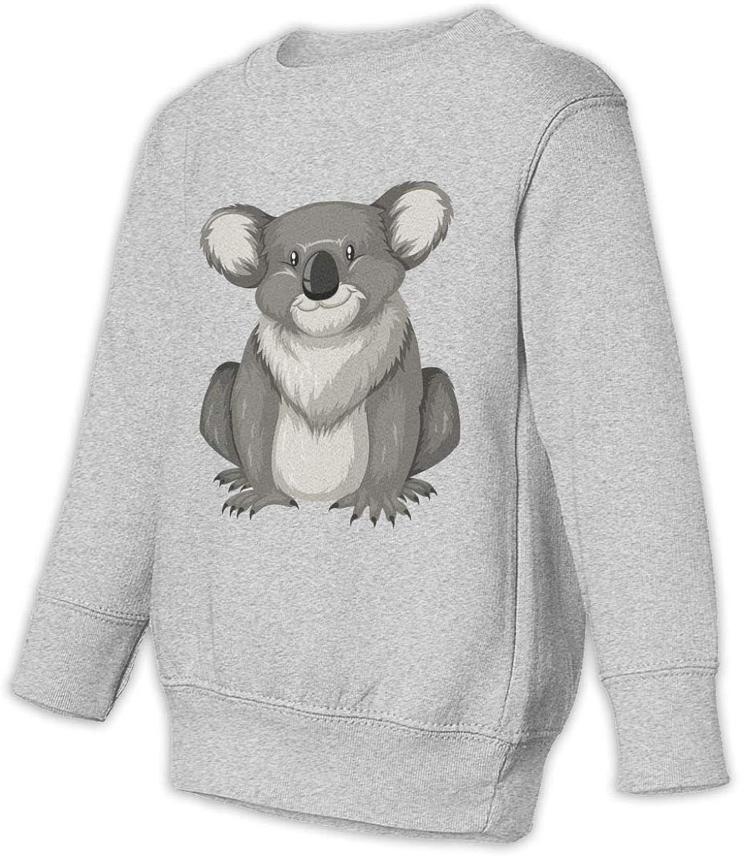 Cartoon Koala Unisex Toddler Hoodies Fleece Pull Over Sweatshirt for Boys Girls Kids Youth