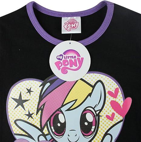 My Little Pony Friends Rock Girls Black Purple Pyjamas Nightwear Set