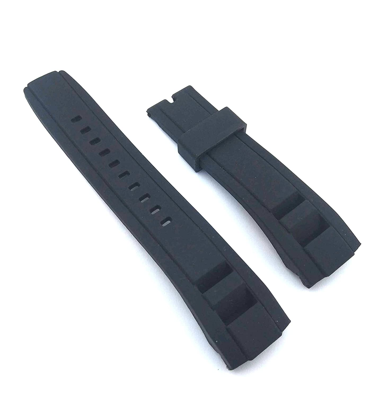 フィット新しいVelatura 22 mm Diverゴム腕時計ストラップ 22mm ブラック B07BVS3K7Cブラック
