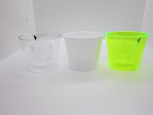 Set of 50 50 Rainbow Color Hard Disposable Party Cups Bomb Cups Reusable Bomb Shots Plastic Shot Glasses