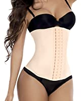 Camellias Women's High Waist Trainer Latex Long Torso Cincher Corset For Weight Loss