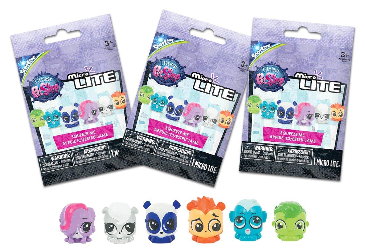 3 Pack Tech4Kids Littlest Pet Shop Micro Lite Figure