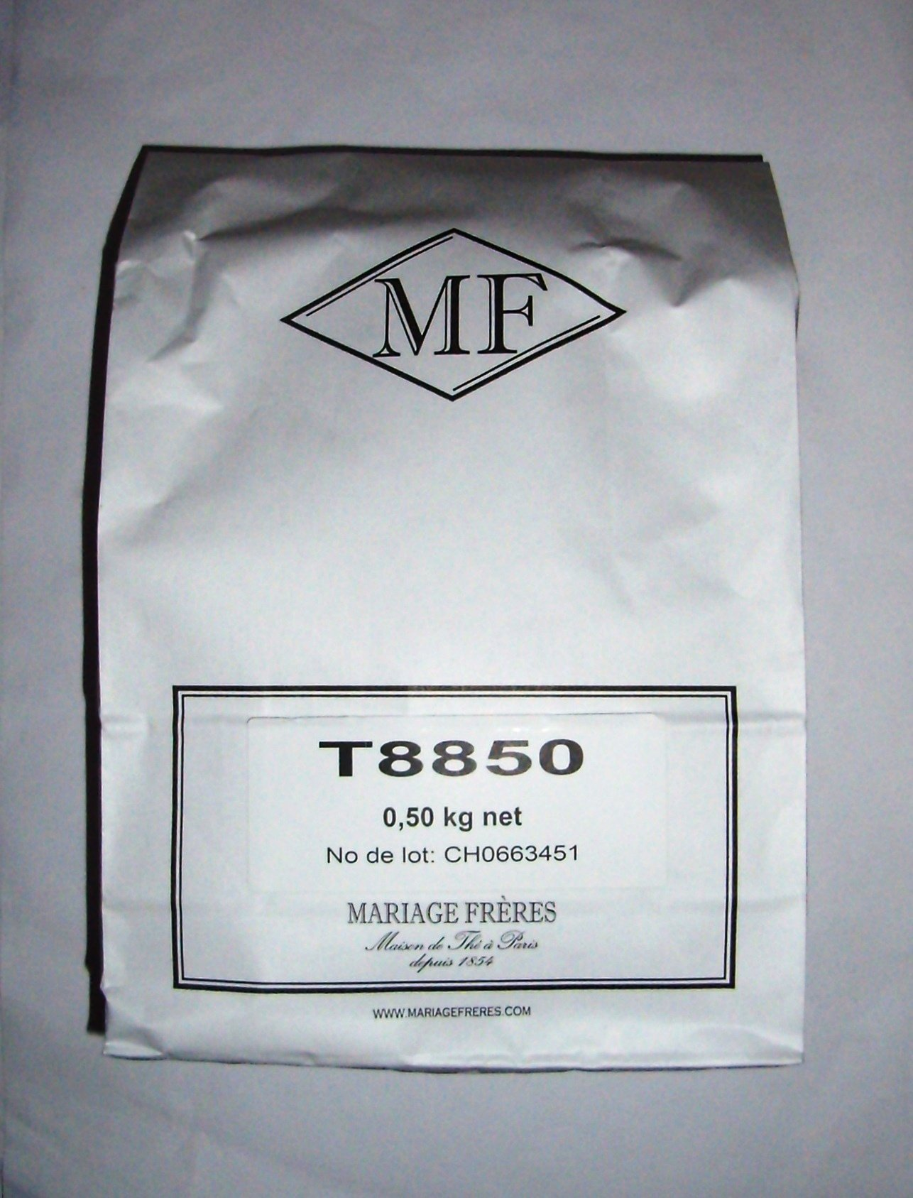 Mariage Frères - THÉ BLANC MARCO POLO (White tea) NEW! - LOOSE LEAF BAG - 17.63oz / 500gr