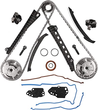 Ford Expedition /& Lincoln Mark LT,Navigator Timing Chain Kit 5.4L Triton 3V Engine Camshaft Timing Cam Phaser Fit for 2005-2010 Ford F150 F250 F350 Super Duty