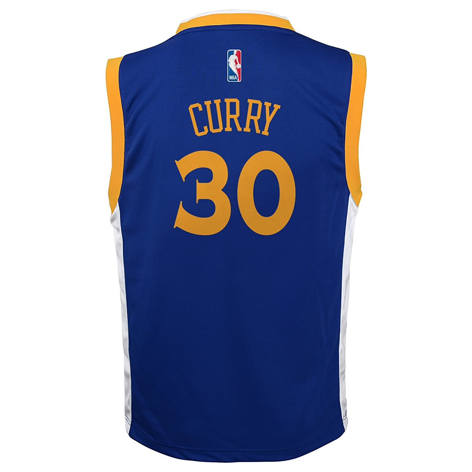 NBA Golden State Warriors Curry S # 30 Boys 8-20 Replica Road Jersey