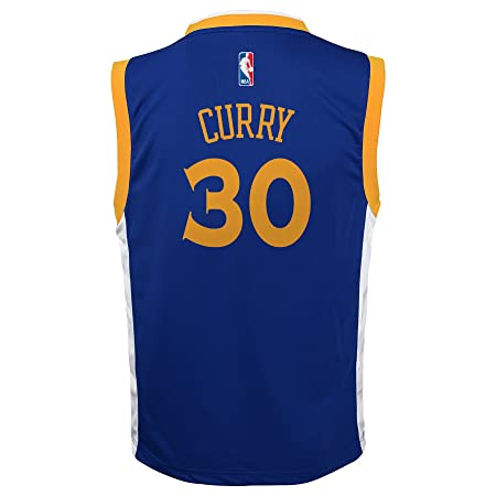 Outerstuff Camiseta de NBA Golden State Warriors Curry S Nro. 30 Niños 8 - 20 réplica, Infantil, Azul: Amazon.es: Deportes y aire libre