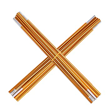 Tent Pole Rod Aluminum Alloy Tarp Poles Supporting Rod Tent Stakes Support Replacement Kit (2Pcs  sc 1 st  Amazon.com & Amazon.com : Tent Pole Rod Aluminum Alloy Tarp Poles Supporting ...