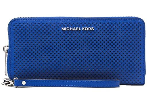 c2bfdb81f50d92 MICHAEL Michael Kors Jet Set Travel Perforated Continental Wallet