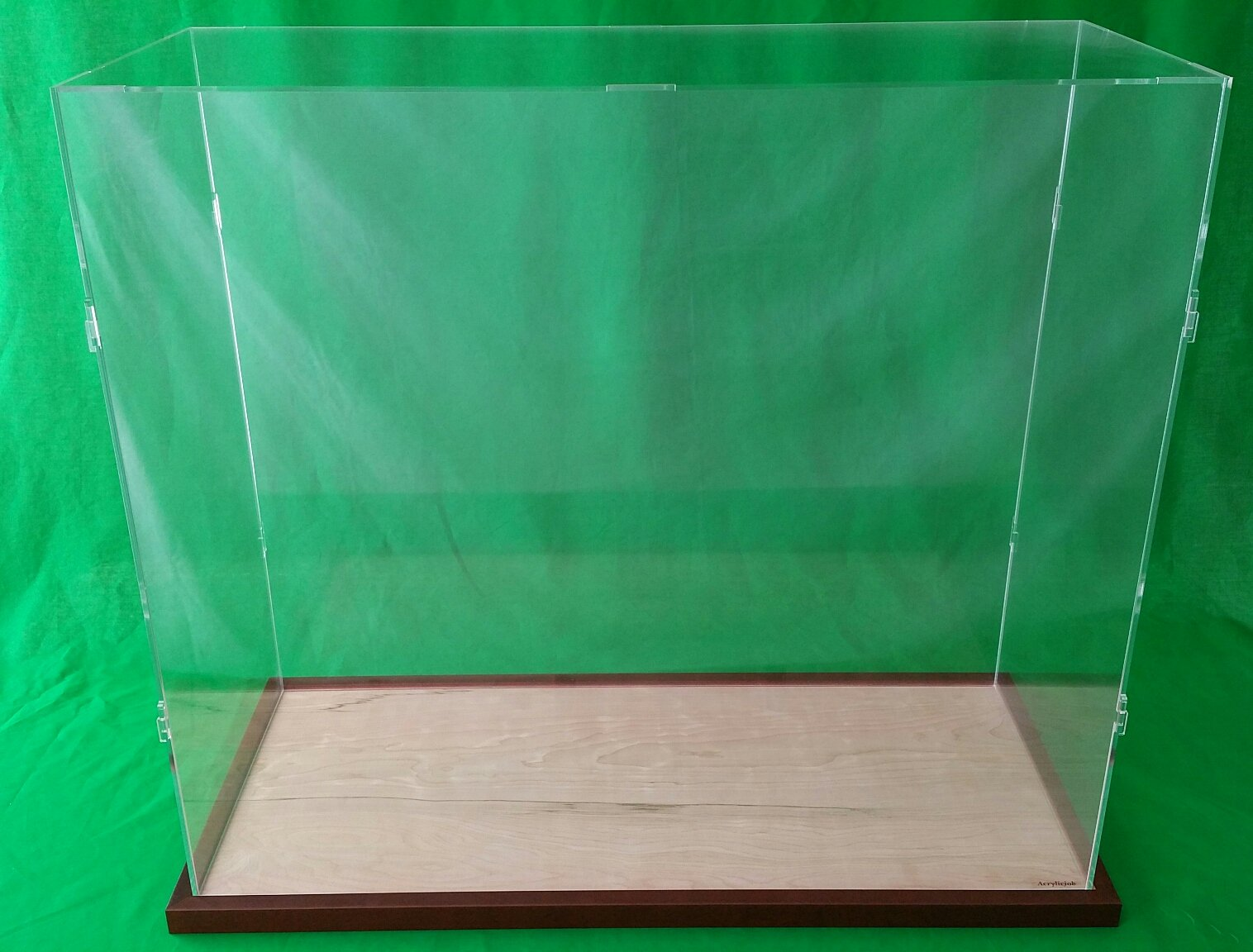 25''L x 10''W x 30''H Inch Table Top Clear Acrylic Display Case for Tall Model Ships