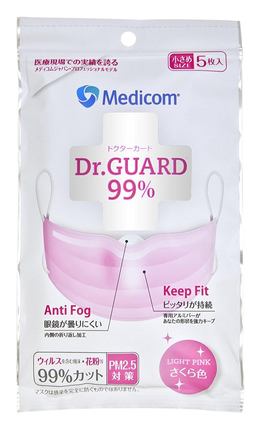 Medicom JMK2384 Doctor Guard Mask S Size Sakura 5 Count
