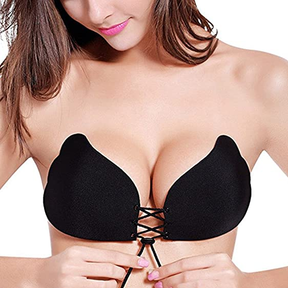 8d4db5d3788d7 Image Unavailable. Image not available for. Color  Evenriver Strapless Self  Adhesive Silicone Magic Invisible Push-up Bras for Women