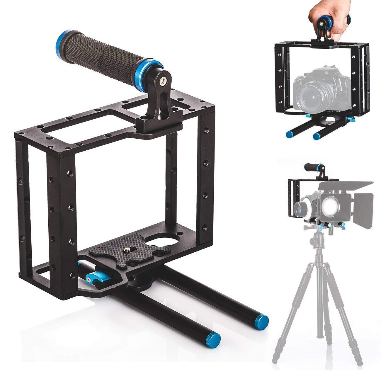 DSstyles デジタル一眼レフカメラ アルミニウムケージ 15mmロッドリグトップハンドルキット Canon用   B07M7GJ9QJ