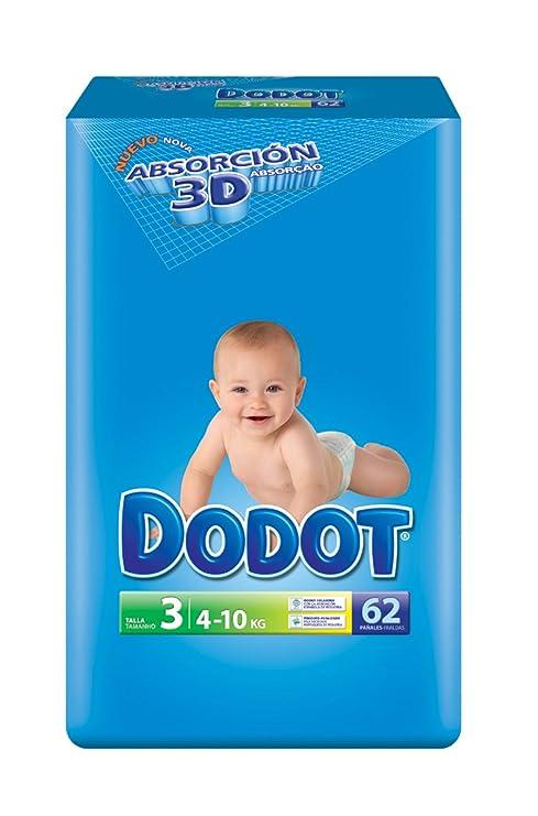 Dodot(talla 3) paquete de 62 unidades (4 a 10 kg
