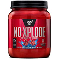 BSN N.O.-XPLODE Pre-Workout Supplement with Creatine, Beta-Alanine, and Energy,...