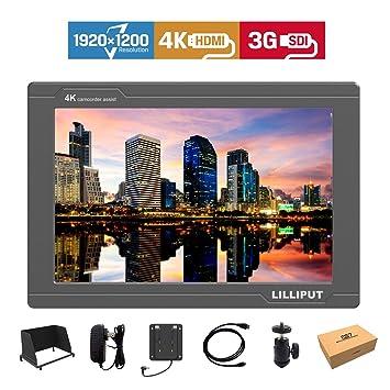 Lilliput FS7 7 inch 1920x1200 Camera Top Broadcast Monitor with 4K