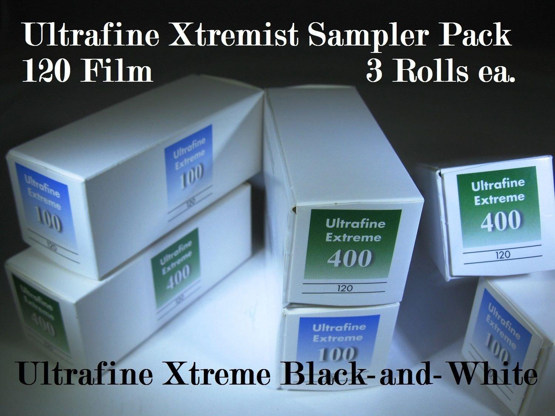 Ultrafine Extreme Xtremist Sampler B&W 120 Film ISO 100 & 400 Sample 6 Roll Pack by Ultrafine