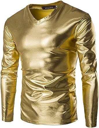 Camiseta Hombre Camisa De En Lisa Color Verano Liso Modernas Casual Camisa De Manga Larga con Cuello En V Blusa De Corte Slim Tops Tops Otoño: Amazon.es: Ropa y accesorios
