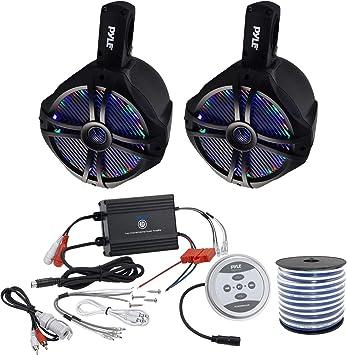 Dual Marine Wakeboard Water Resistant Speakers 6.5-Inch 200 Watt Tower Speaker