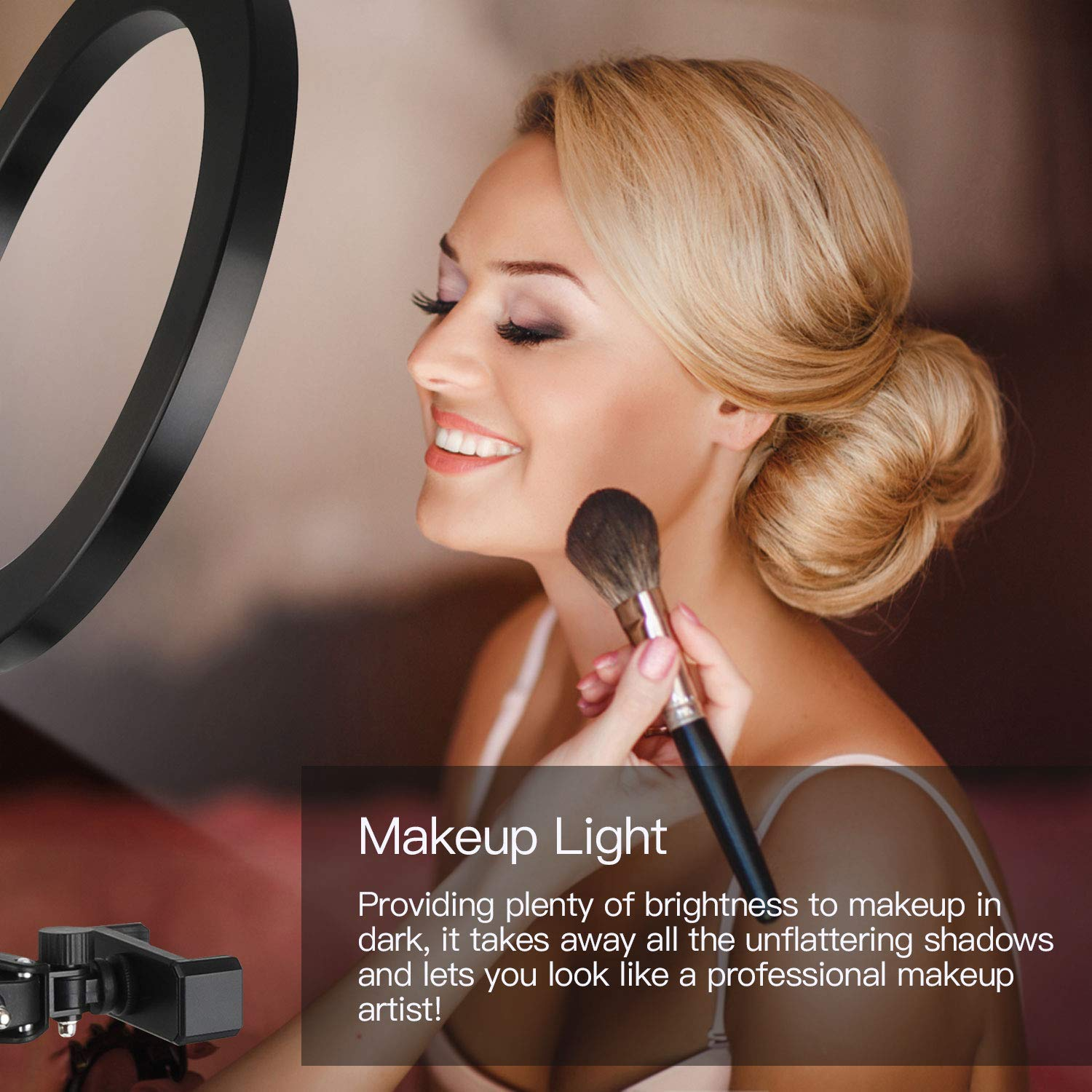 Buy RAMBOT LED Ring Light with Tripod Stand Circle Design Dimmable ...
