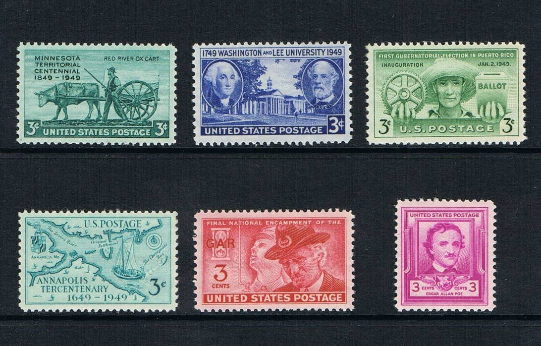 1949 Commemorative Stamp Year Set