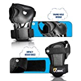 JBM Kids Knee and Elbow Pads with Wrist Guards
