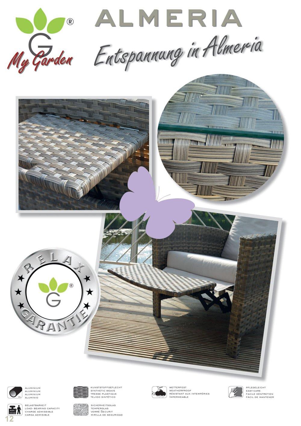 MyGarden Conjunto ratán Conjunto de Lounge Jardín Set ...