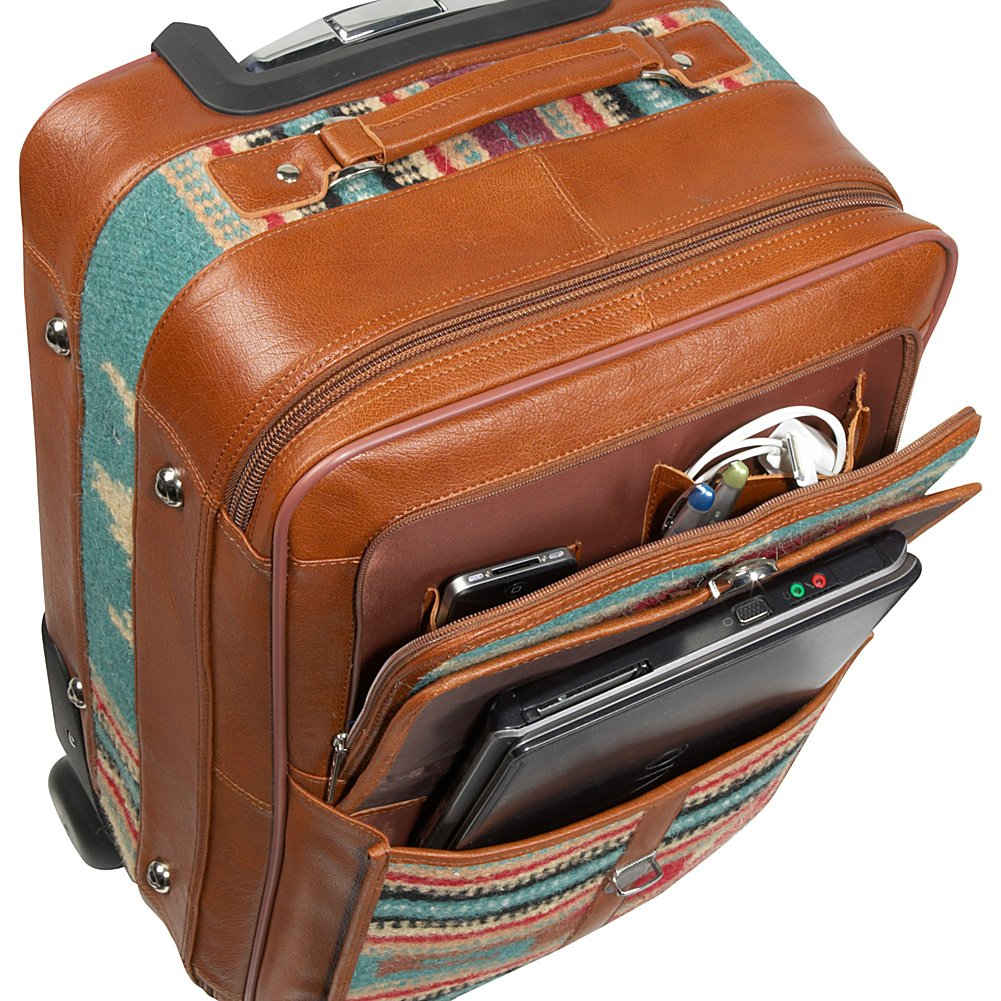 Turquoise Carry-On Set AmeriLeather Odyssey 2 Pc