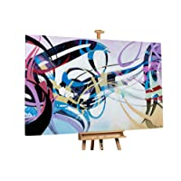 KunstLoft Stravagante dipinto ad olio Musica della vita' in 180x120cm | Tele originali manufatte XXL design | Decorazione astratti colorato | Quadro da parete in olio arte moderna murale
