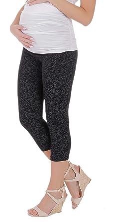 BeLady Legging de Maternité Femme en Coton 3 4 Capri Opaque Minceur Taille  Haute Beaucoup cac009e2a39