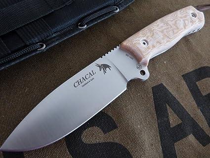 Amazon.com: JV CDA Cuchillo modelo CHACAL Desert Micarta ...