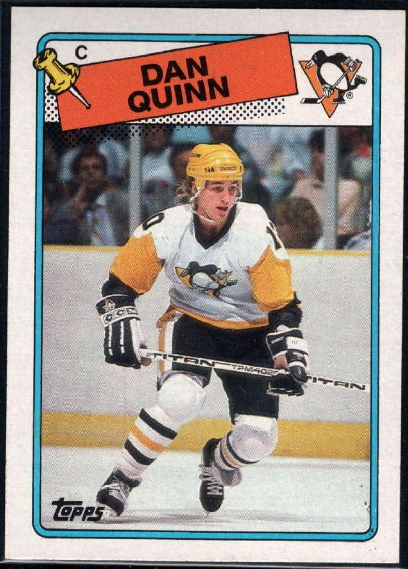 Amazon Com Hockey Nhl 1988 89 Topps 41 Dan Quinn Penguins Collectibles Fine Art