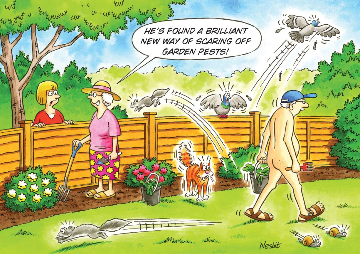 Garden Pest Control Funny Humourous Birthday Card The Side Of Life Amazoncouk Office Products