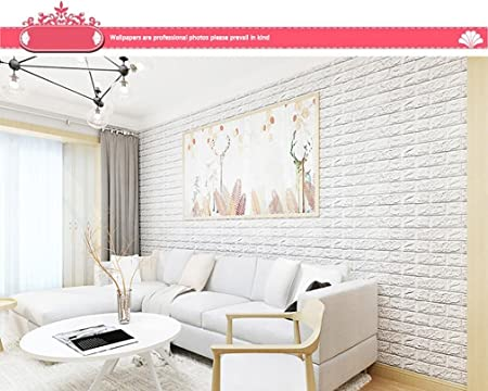 HLHN Creative 3D Brick Self Adhesive Removable Wallpaper Household Home Wall Sticker Poster Acrylic Mural