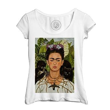 T-Shirt Col V Adulte YONACREA Frida Kahlo