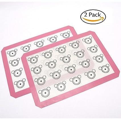 inchant 2 unidades silicona para hornear galletas juego de sábanas, para maletero de Macaron Cake