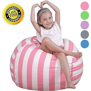 WEKAPO Kids Stuffed Animal Storage Bean Bag Chair | Extra Large Size 38u0027u0027 |