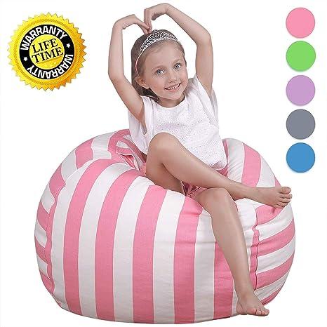 Bon WEKAPO Kids Stuffed Animal Storage Bean Bag Chair | Extra Large Size 38u0027u0027 |