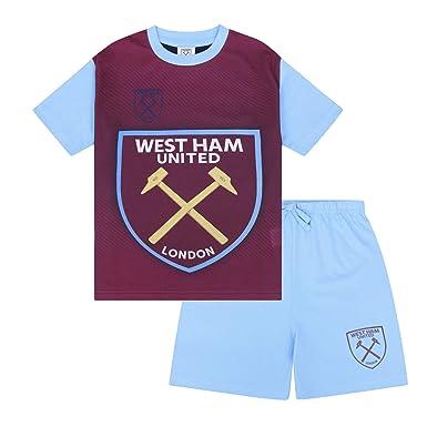 West Ham United Fc Kinder Schlafanzug Shorty Offizielles Merchandise Geschenk Fur Fussballfans