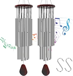 CZS Handmade Wind Chimes 27 Aluminum Tubes Large Outdoor Wooden Wind Bell Memorial Wind Chimes,Best Gift Chimes Decor for Patio, Porch, Garden, or Backyard(Hook Included)
