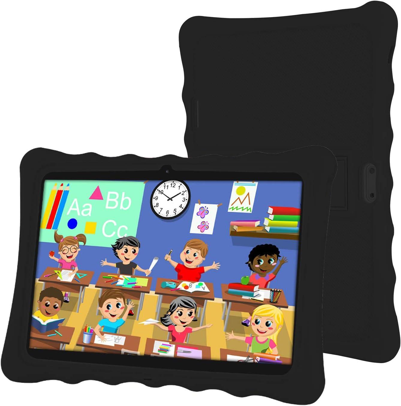 Tableta 10 Pulgadas,LAMZIEN Android 8.1 Tablet Infantil,2GB RAM y 32GB ROM,Quad-Core 1.8Ghz,3G Dual-Sim,Wifi, Bluetooth,Cámara Dual,Google Play,Juegos Educativos,Negro