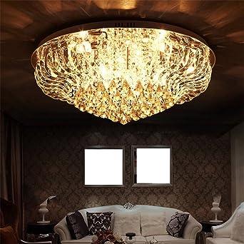THWYNY  Crystal Kronleuchter, Crystal Deckenleuchte, Moderne Einfachheit,  LED Deckenleuchte, Wohnzimmer,