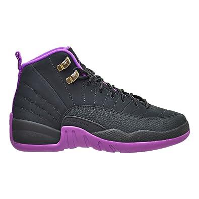 647ae924916 Jordan Air 12 Retro GG Big Kid's Shoes Black/Metallic Gold/Violet 510815-