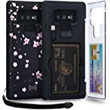 TORU CX PRO Compatible with Samsung Galaxy Note 9 Wallet Case - Protective Floral Pattern Dual Layer with Hidden Card Holder,