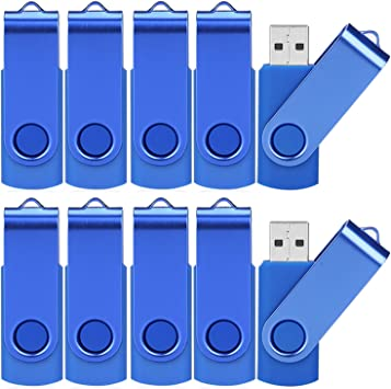 WEISITE 10 Pack 16GB Memoria USB Dise?o Giratorio Flash Drive Mini USB 2.0 Stick Almacenamiento de Datos: Amazon.es: Electrónica
