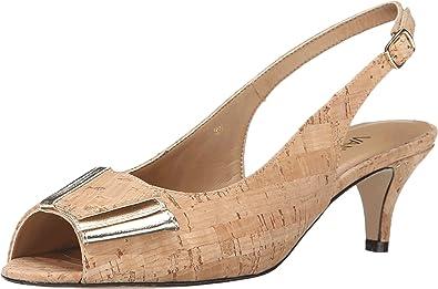 Womens Shoes Vaneli Ulita Natural Cork/Platino Met Nappa