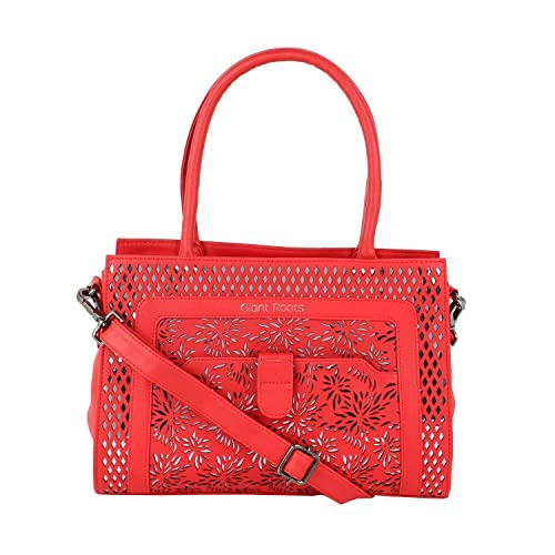 a8db368b9bf6 Women s Designer Leather Top-Handle Handbag by Giant Roots  Amazon.in  Shoes    Handbags