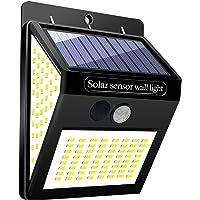 GUTE Luz Solar Exterior,144 LED Luz Solar Jardín,120 °Iluminación de Lados Foco Solar con Sensor de Movimiento Impermeable Lámpara Solar para Jardín (1-Paquete)