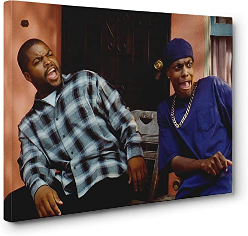 Friday Movie Ice Cube Chris Tucker Wall Art Gallery Wrapped Canvas Print 24x36in. Large
